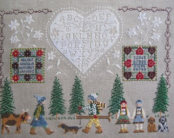"Fine embroidery ""Tyrolean children"""