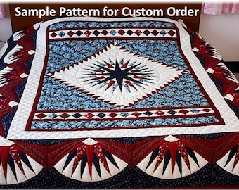 Hand Stitched King Size Quilt, Amish quilts, Complex Star Quilt, Amish patchwork, Homemade quilts, Traditional Quilt, one of a kind,burgundy