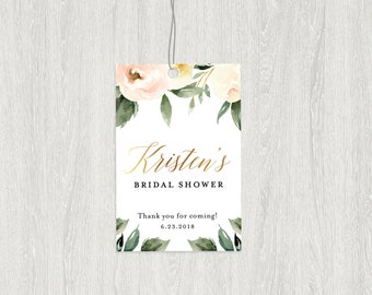 Floral Favor Tags | Bridal Shower Tags | Floral Tag | 2x3 Customized Digital File