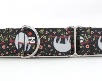 Lazy Day Sloth Pet Collar (Martingale, Buckle, or Tag)