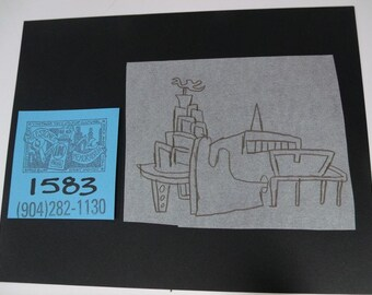 """Original Pre-Production Sketch by Gary Pantor for """"Pee-Wee's Playhouse"""" Set Design"""