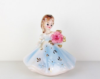 Vintage Josef Originals October Birthstone Girl Figurine