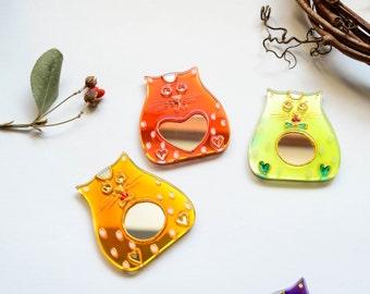 Cat Magnet Fridge Magnet Refrigerator Magnet Kitchen Magnets Glass Magnets Kitchen Decor Kitchen Gift Little Gift Idea Fridge Decoration