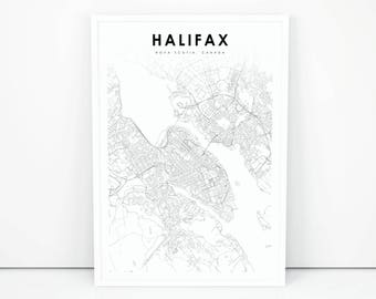 Nova scotia map Etsy