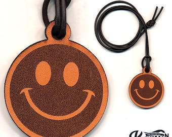 Laser Cut | Smiley Face Necklace / Keychain