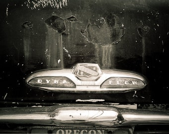 Vintage vehicle Photography auto body dark car rust chrome detroit dyna flow buick - Of travel, I've had my share. - fine art photo