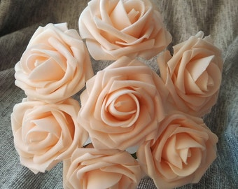 Blush Pink Flowers Artificial Wedding Flowers 50 Roses For Bridal Bouquets Wedding Table Centerpiece Decoration 057-50