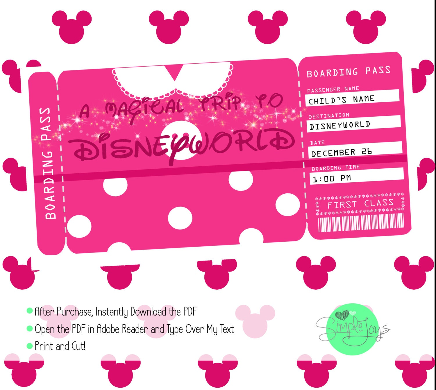This is a graphic of Universal Free Printable Disney Tickets