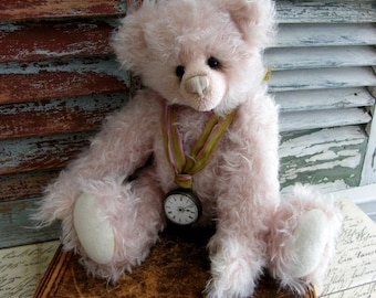 Handmade Collectible Mohair Teddy Bear by avintageobsession on etsy