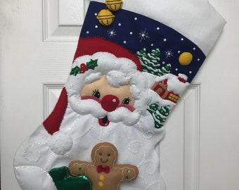 """Finished 28"""" Bucilla Christmas Stocking"""