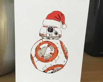 BB-8 Christmas Card. A6 PRINT