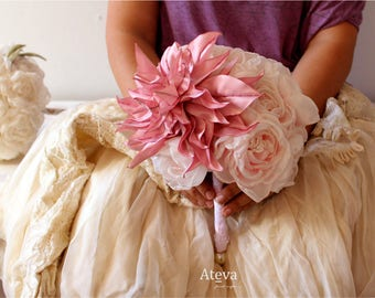 Bridal bouquets, Bouquet for artificial bride, bouquet of roses, bridal bouquet of fabric flowers, fabric flowers, artificial flowers