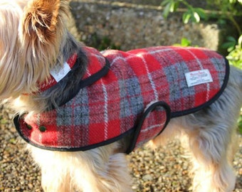 Harris Tweed dog coats, bespoke tailoring, dog coat, winter coat
