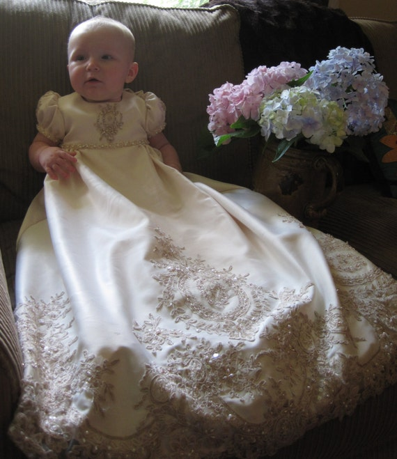Emma\'s Custom Christening or Baptism Gown made to order