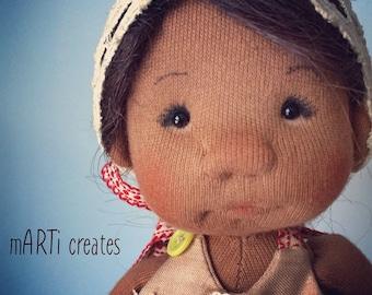 Alina - Cloth Art Doll by mARTi creates - 10.5''