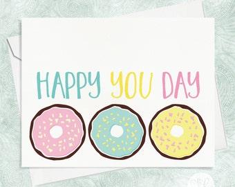 Donut Birthday Card - Best Friends Birthday Card - BFF Birthday Card - Funny Birthday Card - Friend Birthday Card