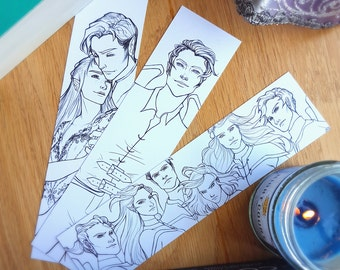 ACOTAR Colouring Bookmarks