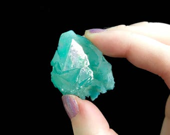 Rare Turquoise Aura Quartz Cluster