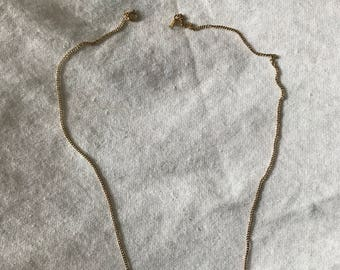 """Vintage 14kt Solid Yellow Gold Curb Chain Necklace Designer A&Z 15"""" long Stong!"""