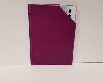 Vegetable tanned Credit card holder (purple)