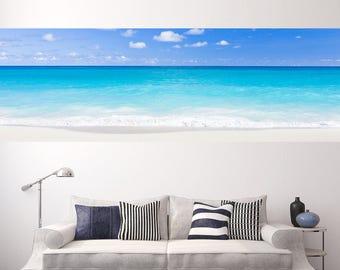 Ocean Tide Panel Print   Adhesive Wallpaper   Ocean Print   Ocean Art   Beach Print   Beach Art   Wall Mural