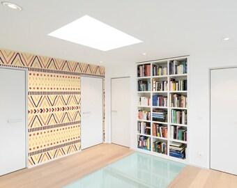 Self-adhesive wallpaper-Boho-Light carpet-yellow BUS