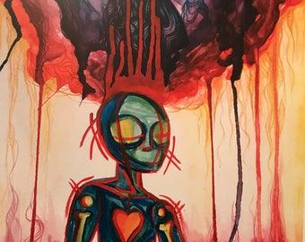 War Alien, fine art print
