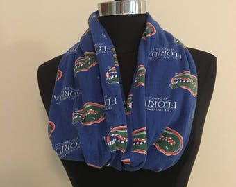 Repurposed/Up-cycled Florida Gators Infinity Scarf