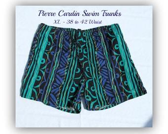 swim shorts,swim trunks,Vintage swim shorts, men's summer shorts, Size XL  38-42 waist, # 46