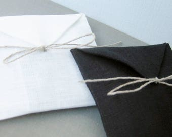Linen Gift Wrapping Envelope - Optional Gift Wrapping, Reusable, Natural Linen, Proposal, Wedding, Bridesmaids, Special Occasion