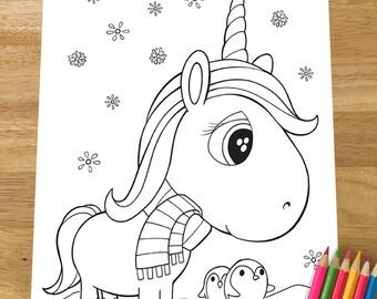 Christmas unicorn | Etsy
