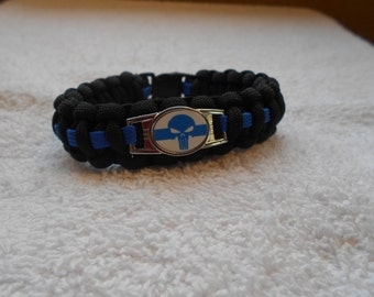 The Punisher Series - Charm # 3 - Paracord Bracelet - Hand Made