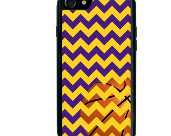iPhone 5 5s 6 6s 6+ 6s+ SE 7 7+ iPod 5 6 Phone Case, Chevron, Basketball, Sports Team Colors, Plus