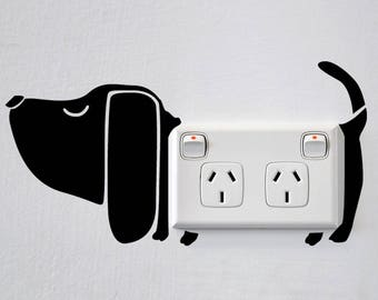 Dog Wall Sticker for Power points and light switches