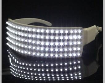 LEDS - WHITE GLASSES.