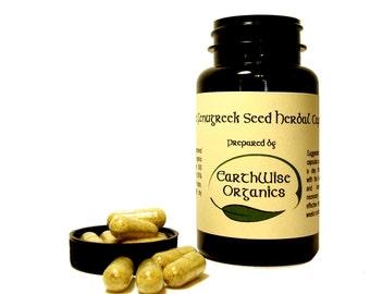 Fenugreek Capsules 500 mg Herbalist Prepared From Certified Organic Herbs