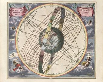Moon poster, Moon, Astrology, Zodiac map, Astronomy, Zodiac constellation, 223