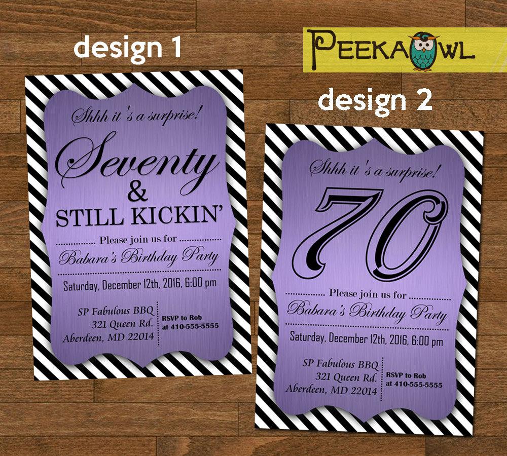 Printable 70th birthday invitation card seventy still zoom filmwisefo