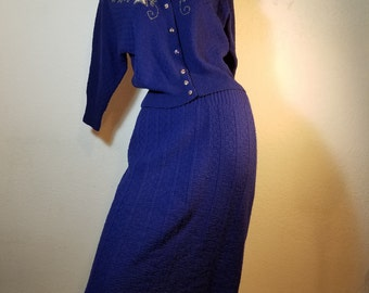 FREE  SHIPPING  1940 Wool Knit Suit