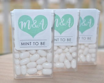 Mint To Be Tic Tac Labels, Bridal Shower Favors, Wedding Favors, Bachelorette Party, Engagement Party Favors, Mint Favors - Set of 24 Labels