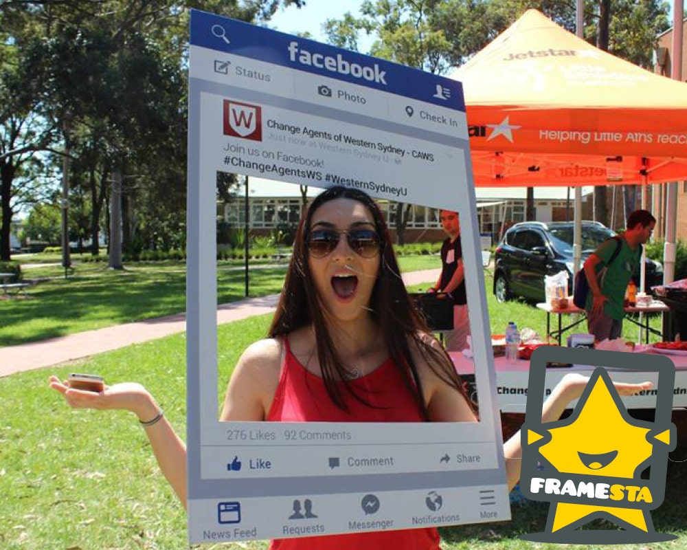 Facebook Frame Photo Booth Prop Physical Prop Facebook Frame