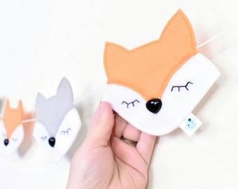 Fox Nursery - Fox Nursery Decor - Fox Nursery Wall Art - Woodland Nursery - Woodland Animals - Fox Baby - Little Explorer - Felt Garland