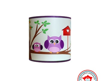 """Child lamp Wall lamp """"The owls on branch"""""""