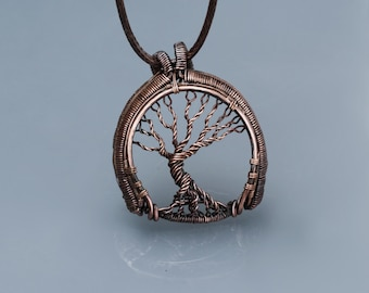 Tree of life necklace Family tree necklace Handmade necklace Wire tree-of-life Wire wrap pendant Tree of life jewelry Tree of life pendant