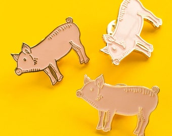 Pig Pin / Pig Gifts / Cute Pin / Soft Enamel Pin / Cochon / Animal Pin / Pig Enamel Pin / Kawaii Pin / Emaille Pin / Animal Enamel Pin