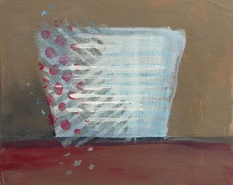 Cup - Acrylic painting on canvas board
