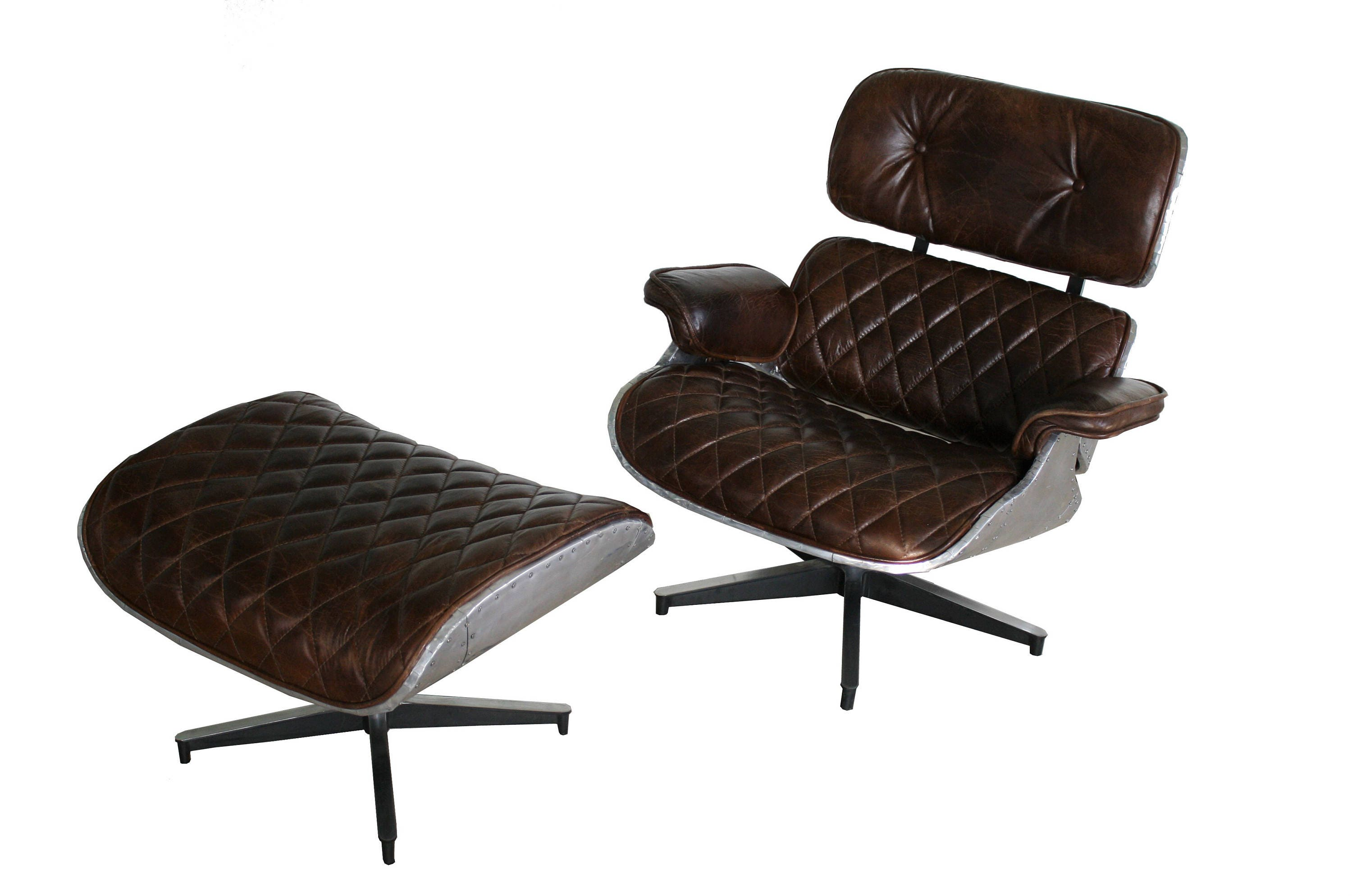 SALE PRICE Unique Eames Lounge Chair And Ottoman Aviator