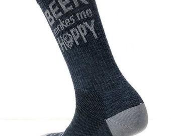Beer Makes Me Hoppy Performance Wool Socks