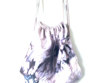 Mini splash dyed cotton backpack