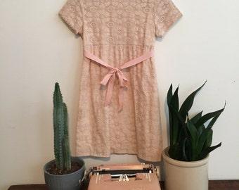 Vintage Light Pink Lace Children's Dress
